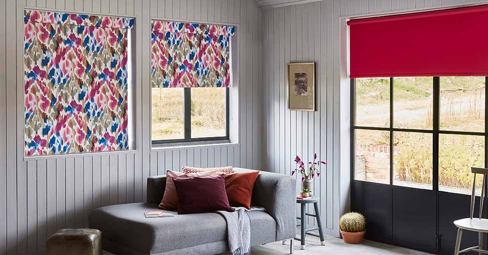 Stylish window blinds made to measure in the UK. Order Patterned Roller Blinds online