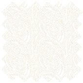 Fabric Sample in Paisley White Translucent