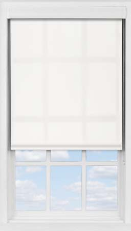 Premium Roller Blind in Bleached Muslin Transparent