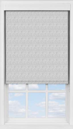 Premium Roller Blind in Charcoal Grey Herringbone Blackout