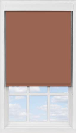 Premium Roller Blind in Cinnamon Translucent