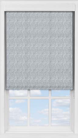 Premium Roller Blind in Denim Blue Herringbone Translucent