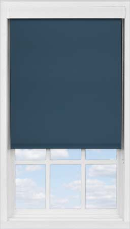Premium Roller Blind in Deep Sea Blue Blackout