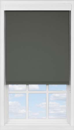 Premium Roller Blind in Gunmetal Blackout