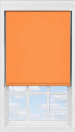 Premium Roller Blind in Pumpkin Blackout