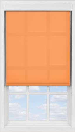 Premium Roller Blind in Pumpkin Translucent