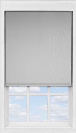 Premium Roller Blind in PVC Soft Grey