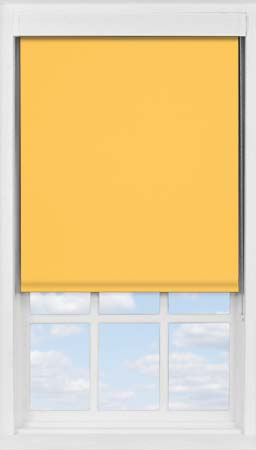 Premium Roller Blind in Saffron Blackout