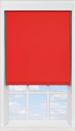 Premium Roller Blind in Scarlet Blackout