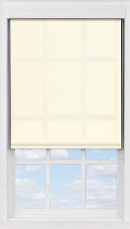 Premium Roller Blind in Soft Cream Translucent
