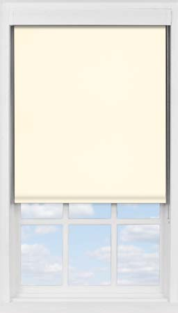 Premium Roller Blind in Soft Cream Blackout