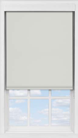 Premium Roller Blind in Soft Grey Mist Blackout