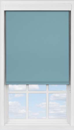 Premium Roller Blind in Smooth Blue Blackout