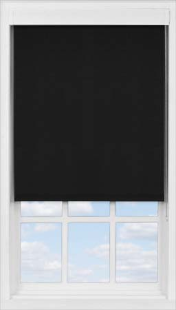 Premium Roller Blind in True Black Translucent