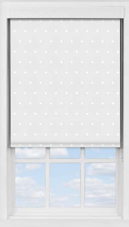 Premium Roller Blind in Grey Polka Dot Blackout