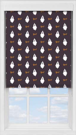 Premium Roller Blind in Halloween Boo Translucent