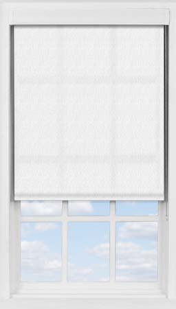 Premium Roller Blind in Herringbone White Translucent