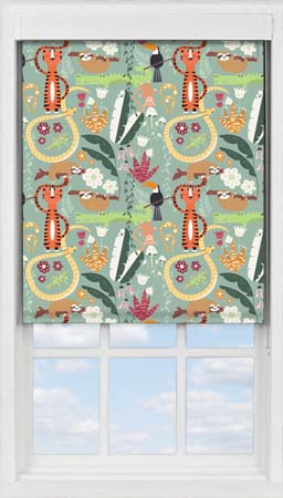 Premium Roller Blind in Jungle Friends Blackout