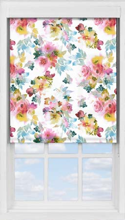 Premium Roller Blind in Oriental Rose Translucent