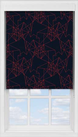 Premium Roller Blind in Prism Burnt Orange Blackout