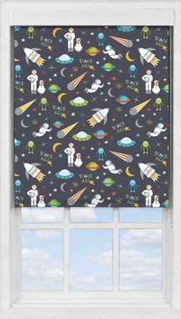 Premium Roller Blind in Space Age Blackout