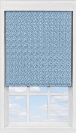 Premium Roller Blind in Scattered Spots Blue Blackout