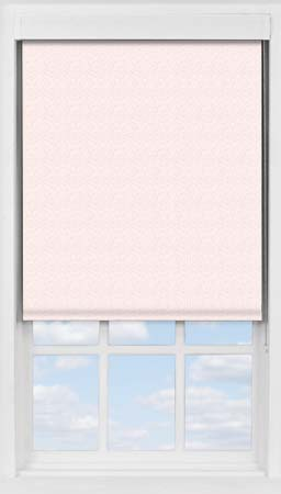 Premium Roller Blind in Scattered Spots Pink Blackout