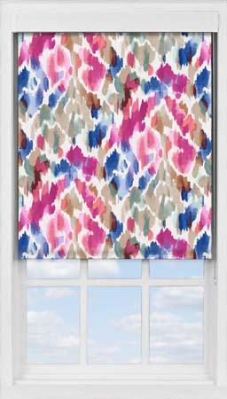 Premium Roller Blind in Woodland Burst Translucent
