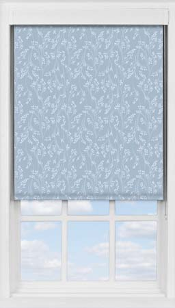 Premium Roller Blind in Barley Fields Blue Blackout