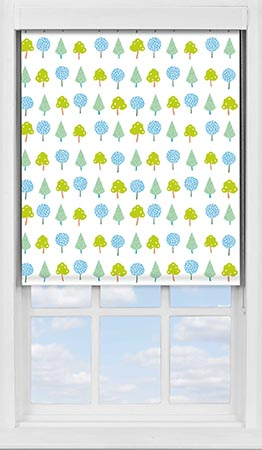 Premium Roller Blind in Crafty Leaves Blackout
