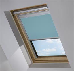 Skylight in Smooth Blue Blackout