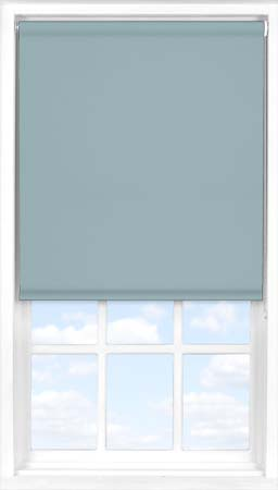 Motorised Roller Blind in Blue Pebble Blackout