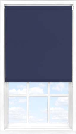Motorised Roller Blind in Celestial Blue Blackout