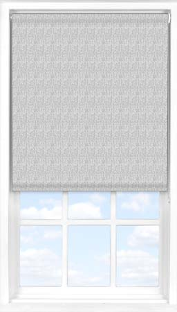 Motorised Roller Blind in Charcoal Grey Herringbone Translucent