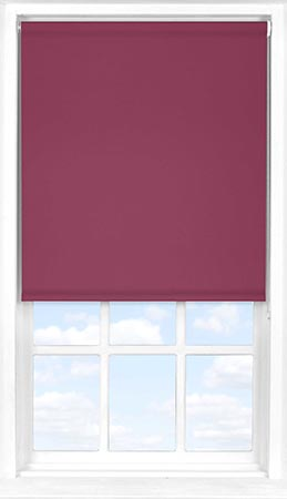 Motorised Roller Blind in Cherry Wine Blackout