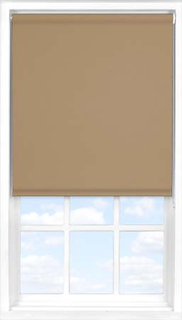 Motorised Roller Blind in Coconut Husk Blackout