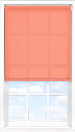 Motorised Roller Blind in Coral Sunset Translucent