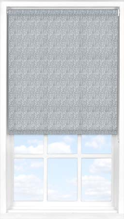 Motorised Roller Blind in Denim Blue Herringbone Translucent