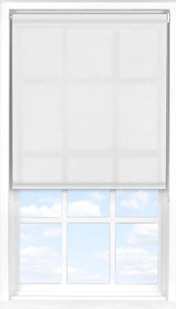 Motorised Roller Blind in Edelweiss Transparent