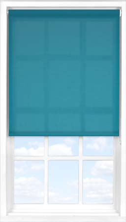 Motorised Roller Blind in Mariner's Teal Translucent