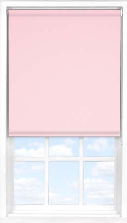 Motorised Roller Blind in Pink Macaroon Blackout