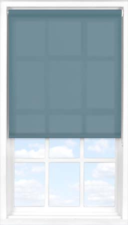 Motorised Roller Blind in Refined Blue Translucent
