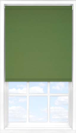 Motorised Roller Blind in Rich Olive Blackout