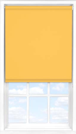 Roller Blind in Saffron Blackout