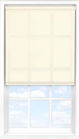 Roller Blind in Soft Cream Translucent