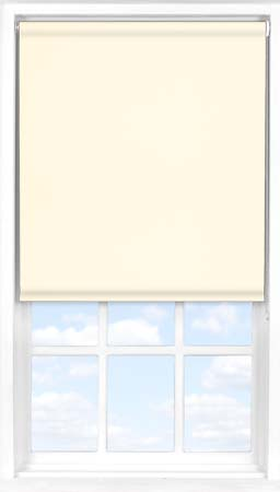 Motorised Roller Blind in Soft Cream Blackout