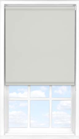 Motorised Roller Blind in Soft Grey Mist Blackout