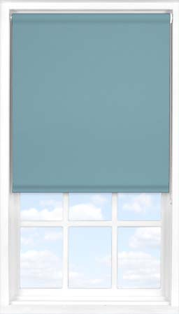 Roller Blind in Smooth Blue Blackout