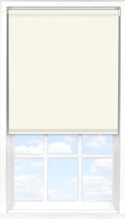 Motorised Roller Blind in True White Blackout
