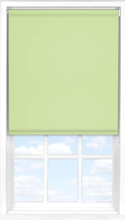 Motorised Roller Blind in Wasabi Green Blackout